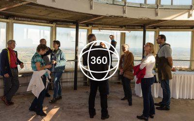 Fernsehturm-Rundgang in 360 Grad