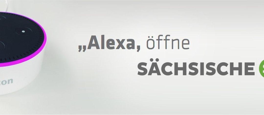 """Nachrichten zum Hören: """"Alexa, öffne Sächsische.de"""""""